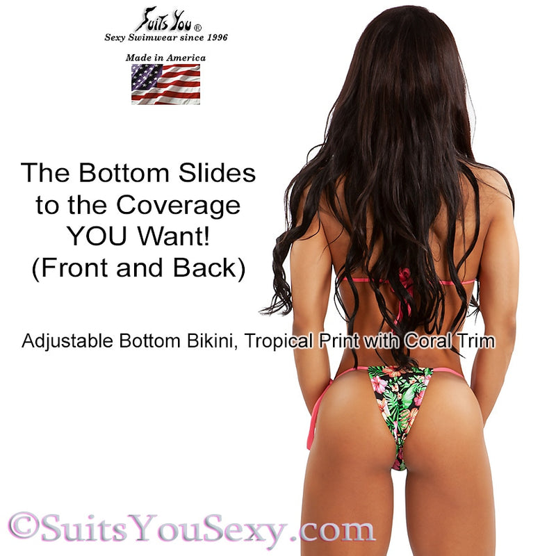 Back view of adjustable bottom bikini