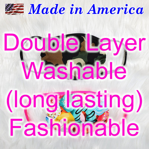 Youth Size Face Mask for kids, made in America