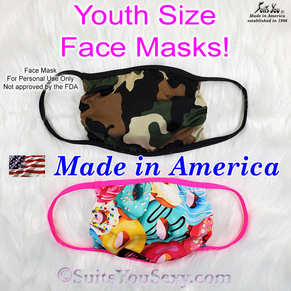 Youth Size Washable Face Mask for kids