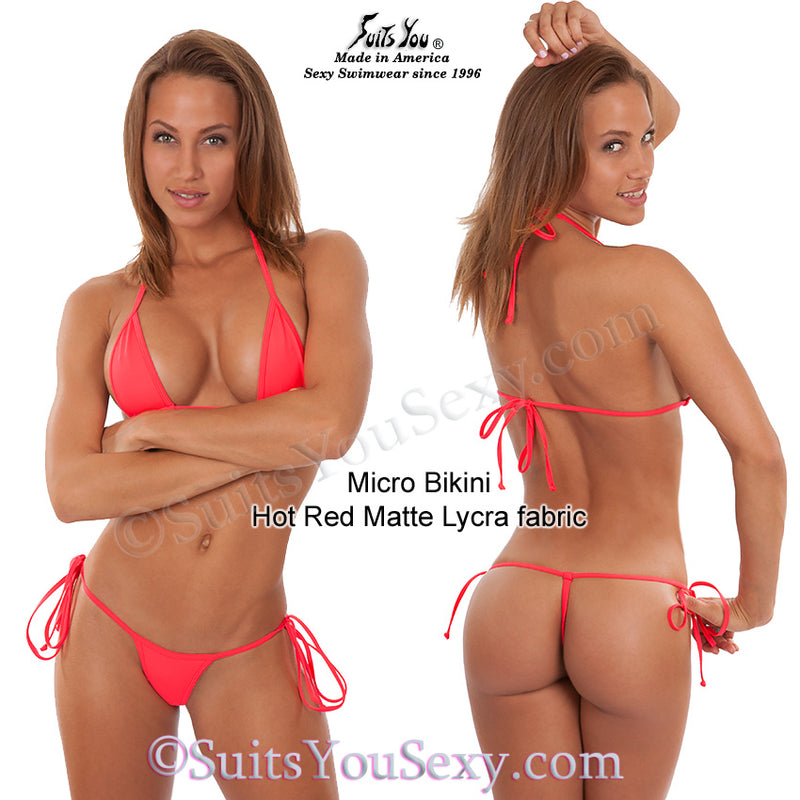 Micro bikini, hot red fabric