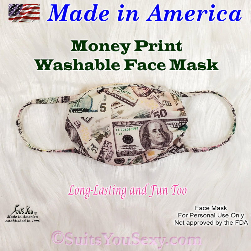Money Print Face Mask