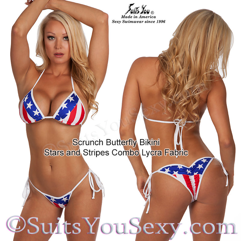 Unique Stars and Stripes bikini.