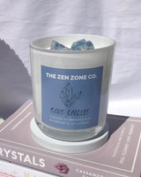 BLUE CALCITE | Crystal Infused Candle