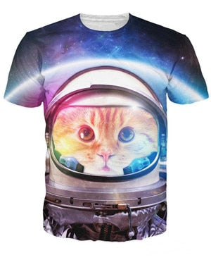 3D Cat Space Tee Range