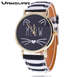 Quartz Meow Cat Watch
