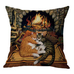 Cat Printed Cushion