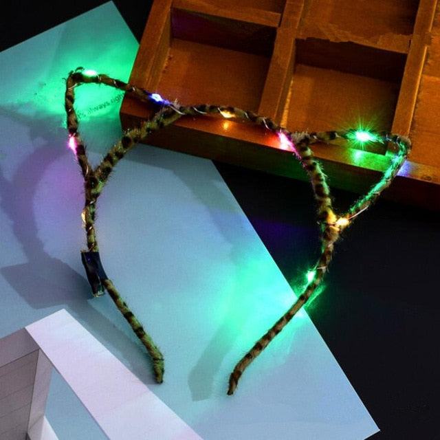LED Cat Ears Headbands