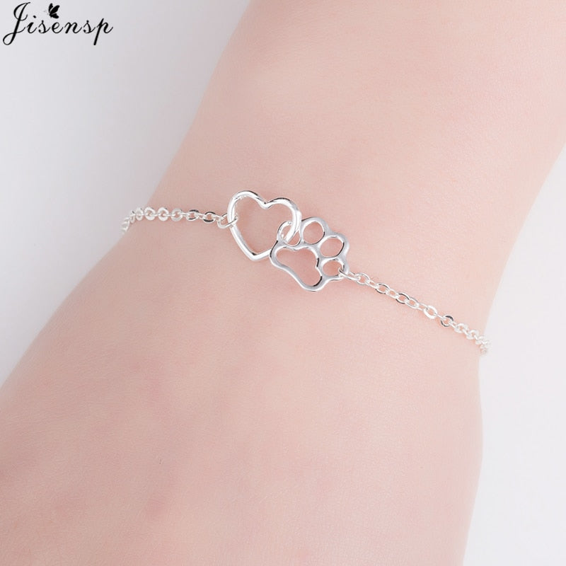 Hollow Pet Paw Bracelet