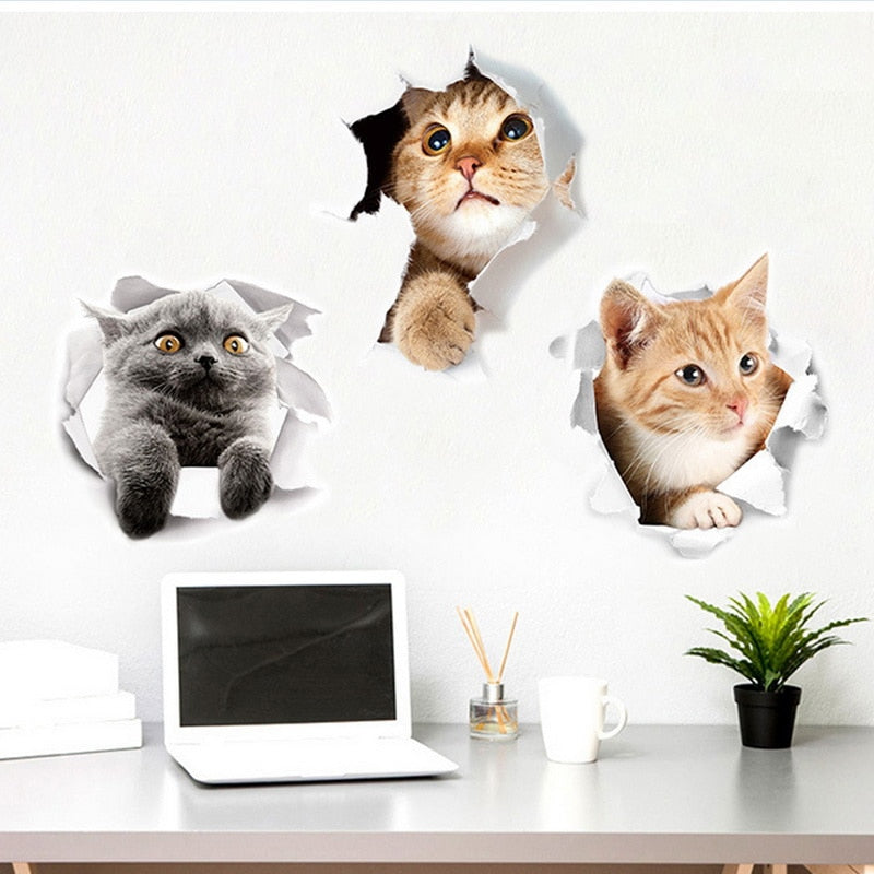 3D Cartoon Wall Stickers