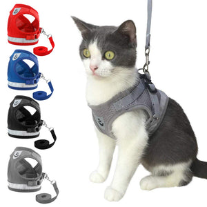 Reflective Cat Harness and Leash