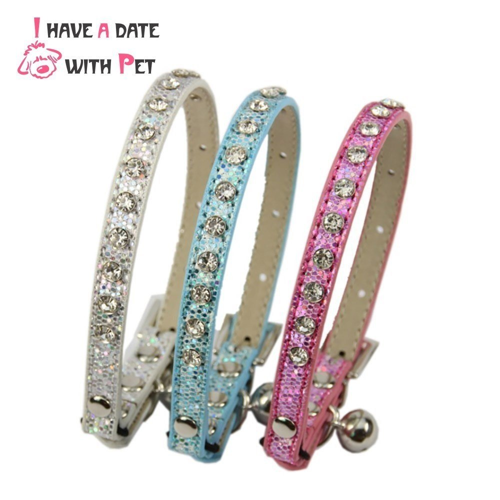 Rhinestone cat collar