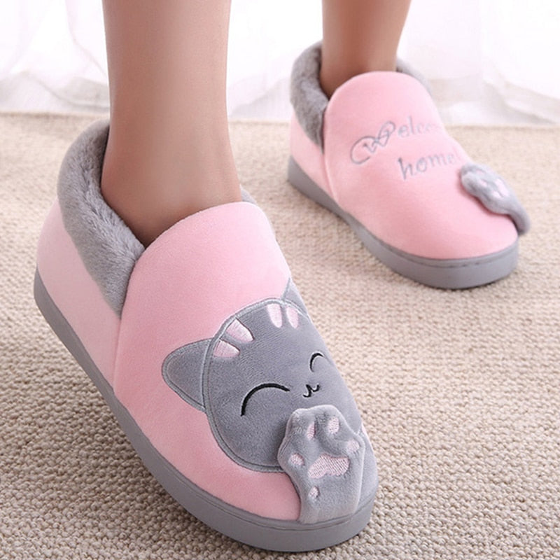 Winter Warm Cat Slippers
