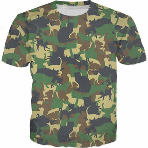 Cat Camouflage T-shirt