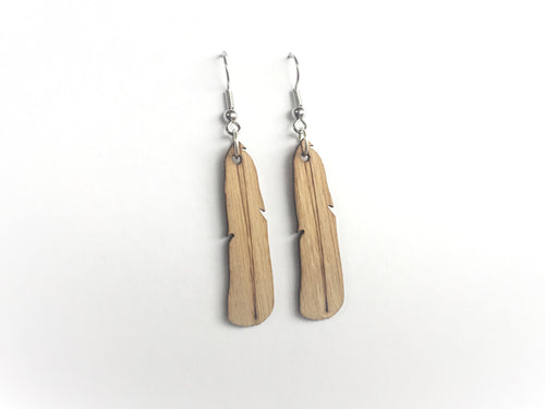 Bamboo Feather Earrings
