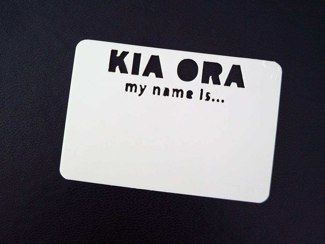 Reusable Name Tag