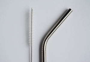 Stainless Steel Metal Straws - 2 pack w. cleaner