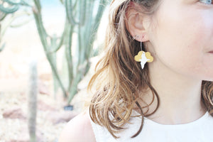 Recycled plastic earrings, Flocking Birds, Made in NZ