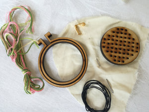 Embroidery Hoop Necklace Kit