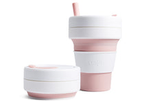 Stojo Collapsible reusable coffee cup Rose