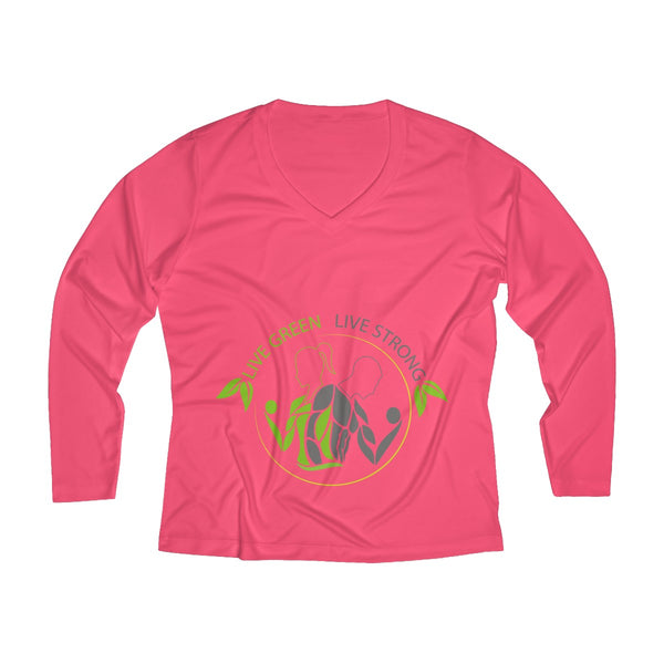 LGLS Women's Long Sleeve Performance V-neck Tee