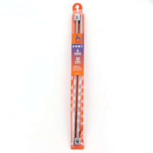 Pony Knitting Needle 6mm x 30cm