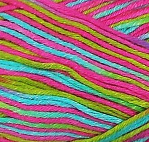 Fibra Natura Bamboo Jazz Multi Knitting Yarn Pink/Green Multi