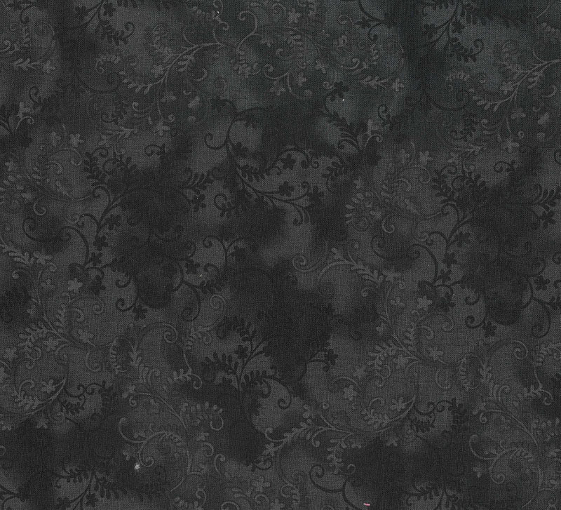 MYSTIC VINES FABRIC Black