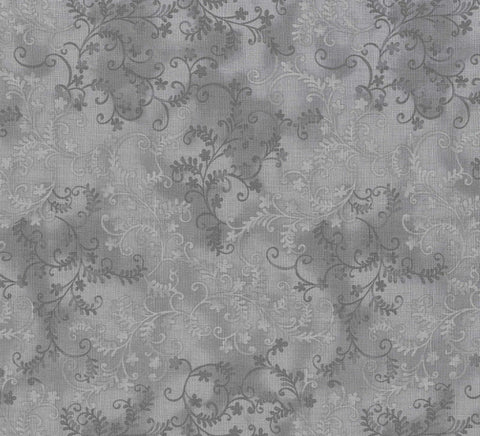 MYSTIC VINES FABRIC Grey