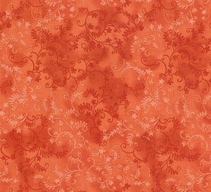 MYSTIC VINES FABRIC Tangerine