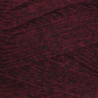 FiddLesticks Superb Tweed Knitting Yarn Dark Red