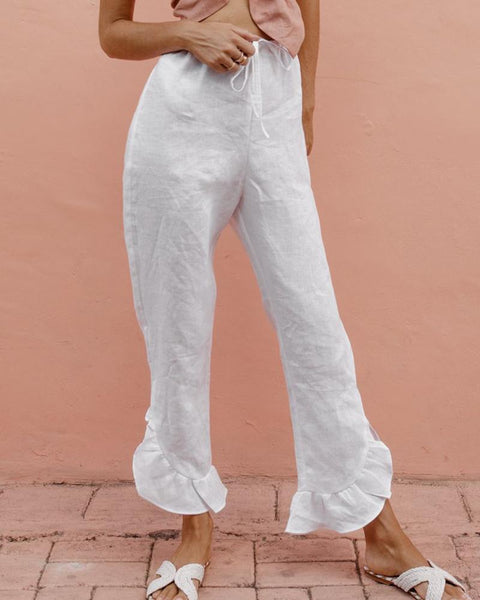Linen Ruffled Sweet Youth Pants