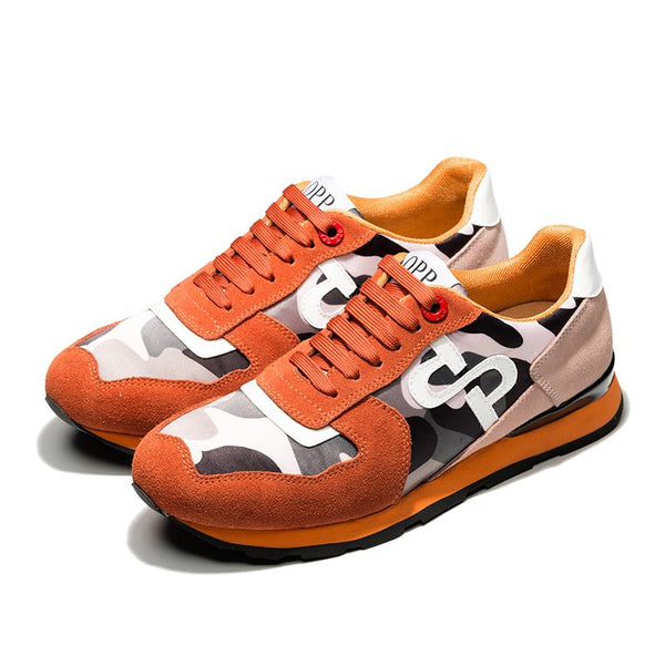 Lace-Up Paint Sneakers Orange - Top Sneakers - OPP Official Store (OPP France)