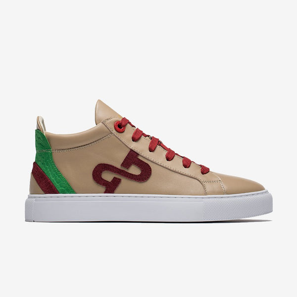 High-Top Shoes Khaki
