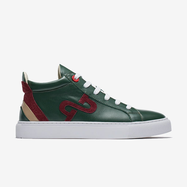 Men High-Top Shoes Green