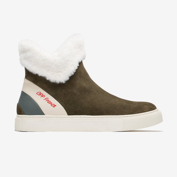 Men's Fur Boots Khaki