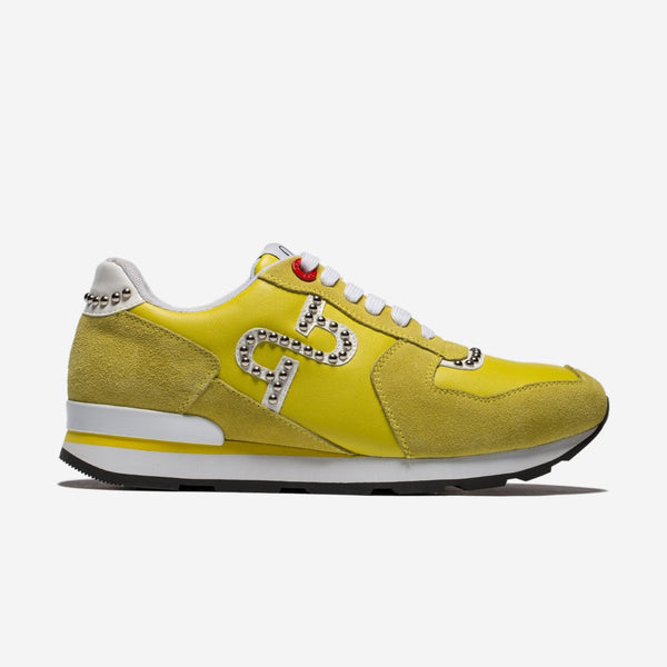 Lace-Up Suede Sneakers Yellow - Top Sneakers - OPP Official Store (OPP France)