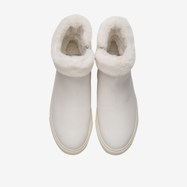 Men's Fur Boots White