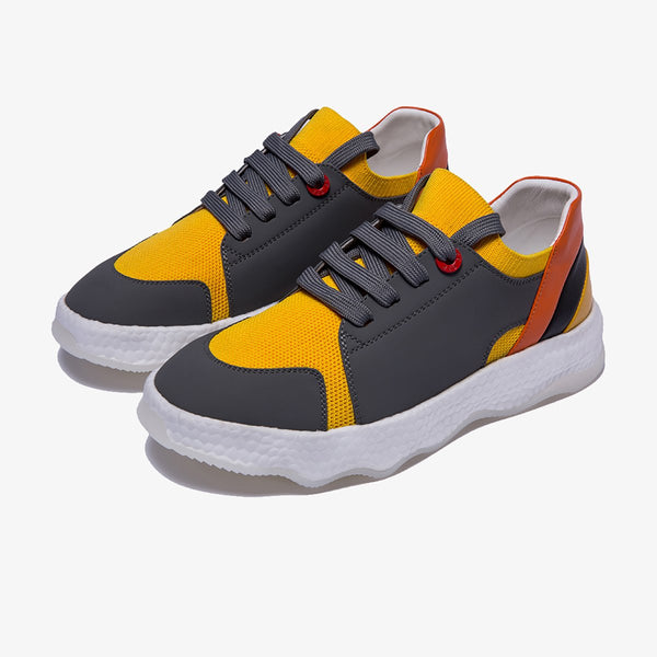 Casual Lace-Up Shoes Yellow