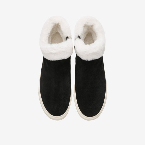 Men's Fur Boots Black