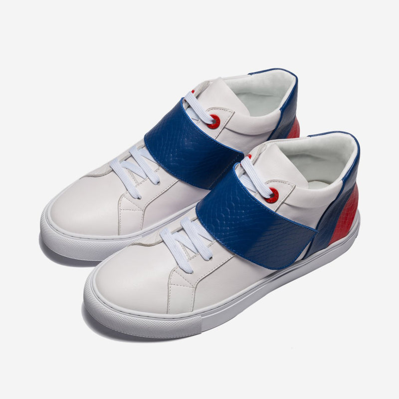 Casual High-Top Shoes Blue