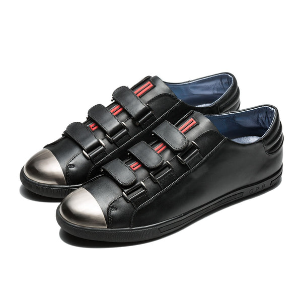 Metal Hook&Loop Shoes Black - Top Casual Shoes - OPP Official Store (OPP France)