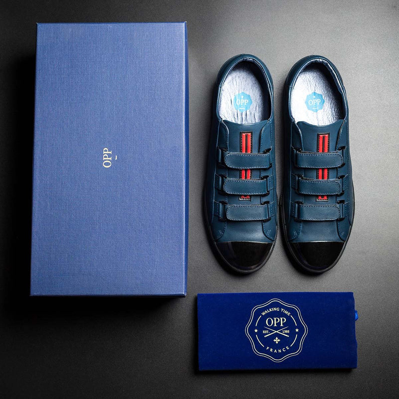 Metal Hook&Loop Shoes Blue - Top Casual Shoes - OPP Official Store (OPP France)