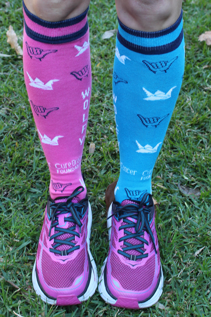 The Wolfy Foundation Cure Brain Cancer Foundation City2Surf Socks