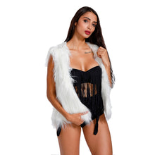 LED Faux Fur Sleeveless Coat