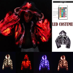 Wolf-Style Faux Fur LED Coat