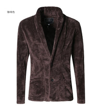 Men's Faux Fur Cardigan Coat