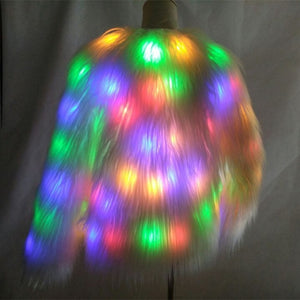 LED Faux Fur Light Up Hood