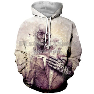 PLstar Cosmos 3d Print Fashion Sweatshirt for Women Men Hoodie High Spirit Buddha Prayer Hoodies Psychedelic Pullover Unisex