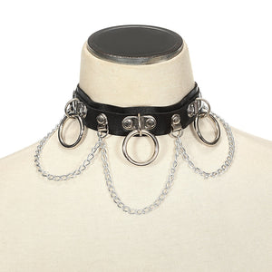 Sexy Harajuku Chain Choker necklace for women cosplay Collar Bondage Goth Belt Chocker Gothic necklace  festival jewelry