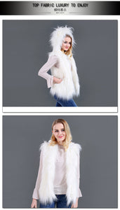 Hooded LED Faux Fur Vest